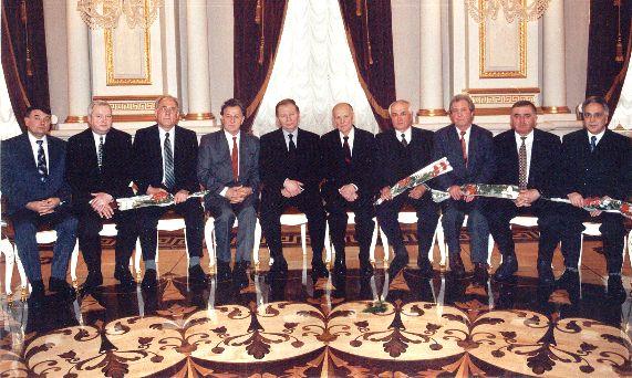 Лауреати державної премії разом з Президентом України Л.Д.Кучмою